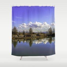 Manor house landscape Shower Curtain