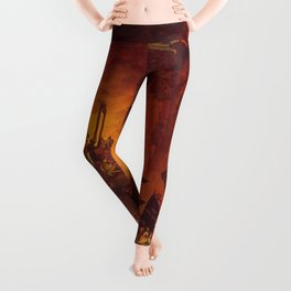 The revolt in the underworld Leggings
