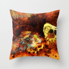 Chasing bugs. Throw Pillow