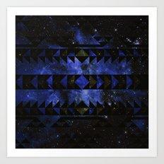 Blue Stellar Dust Art Print