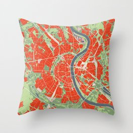 Cologne map classic Throw Pillow