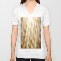 gold glitter V-neck T-shirts featuring Gold Glitter 0875 by Cecilie Karoline