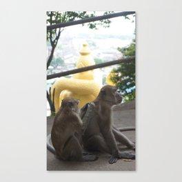 Batu Caves Monkey Canvas Print