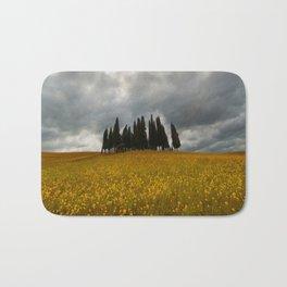 Golden fields of Tuscany Bath Mat