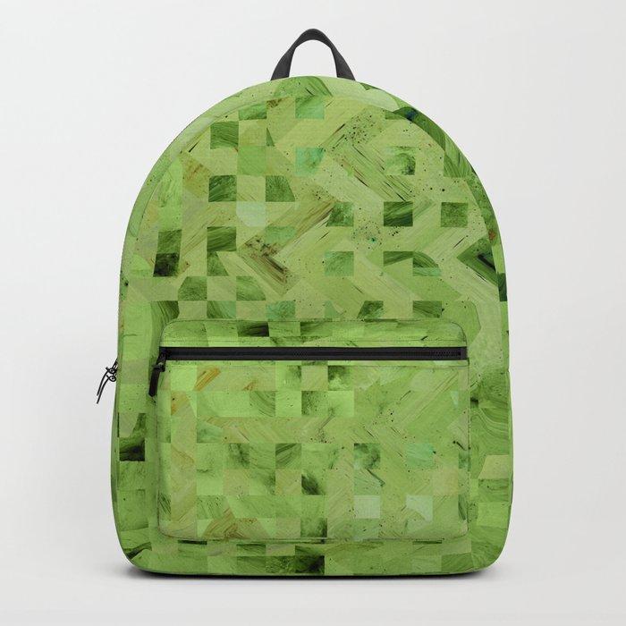 Green galaxy pattern Backpack