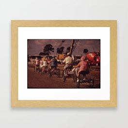 Tricycle Club Framed Art Print