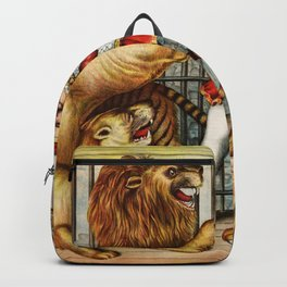 The Lion Tamer 1873 Vintage Circus Backpack
