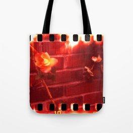 holga film x-processed, roses with brick Tote Bag