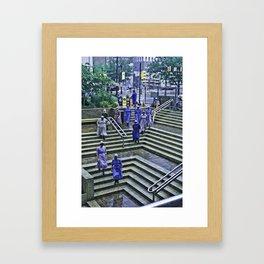 Amish ladies Framed Art Print