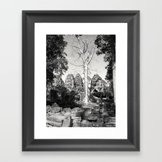 Bayon Temple - Cambodia Framed Art Print