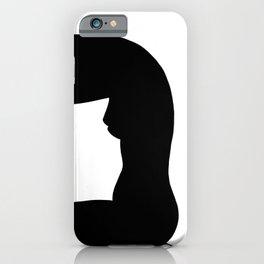 Nude silhouette figure - Nude black 002 iPhone Case