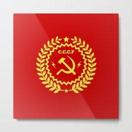 Communist Hammer & Sickle CCCP Badge Design Metal Print