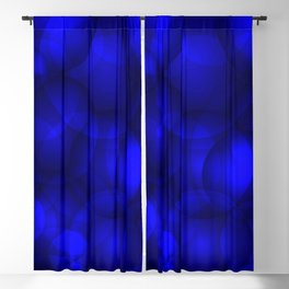Glowing blue soap circles and volume sea bubbles of air and water. Blackout Curtain