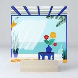Tropical Villa Ocean View Mini Art Print