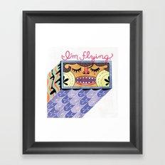 I'm Flying! Framed Art Print