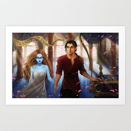 The Muse of Nightmares and the Dreamer Art Print