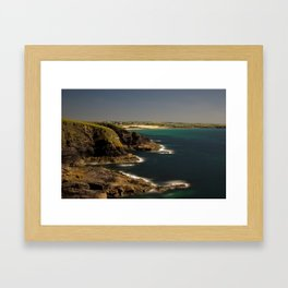 Trevose Head to Constantine Bay, Cornwall, UK Framed Art Print