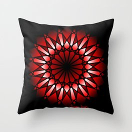 Burnt Umber Wonder Mandala Throw Pillow