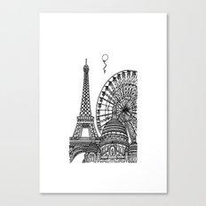 Paris Silhouettes Canvas Print