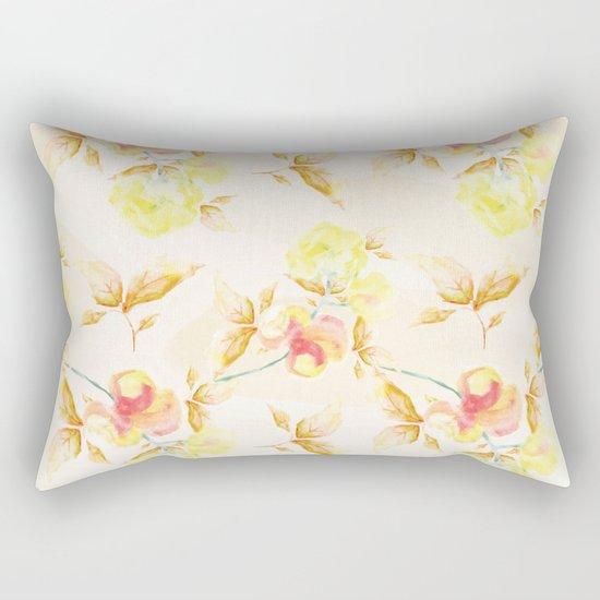 Delicate Floral Pattern 06 Rectangular Pillow