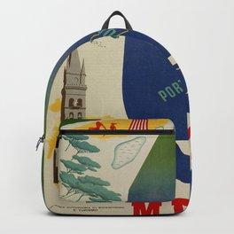 Messina port of Sicily Backpack