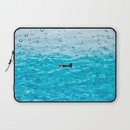 Orca Whale gliding through the water on a rainy day Laptop Sleeve