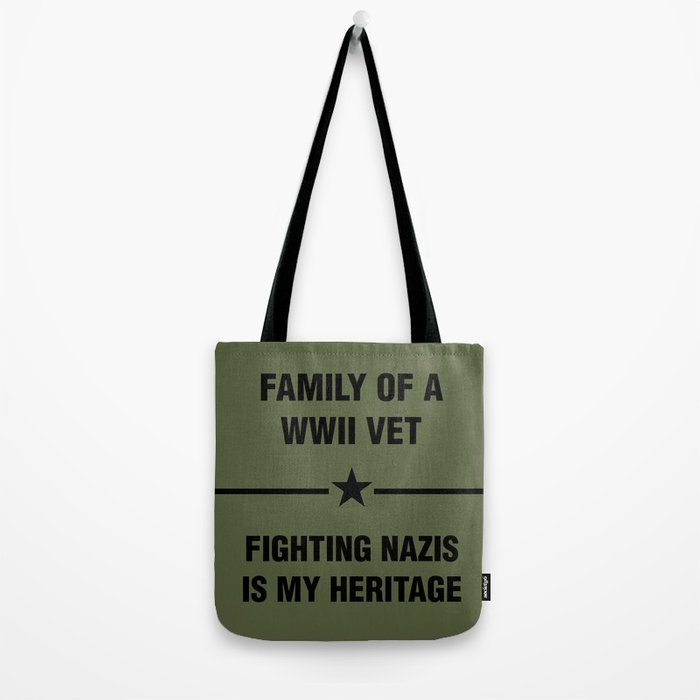 WWII Family Heritage Tote Bag