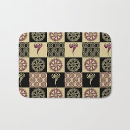 Tattoo Check Pattern Bath Mat
