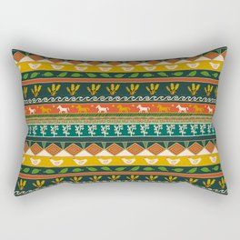 Ukrainian Folk Art Stripe Rectangular Pillow