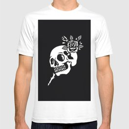 Tattoos style skull and flower T-shirt