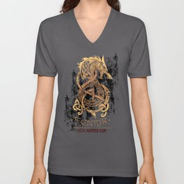 Fenrir: The Monster Wolf of Norse Mythology Unisex V-Neck