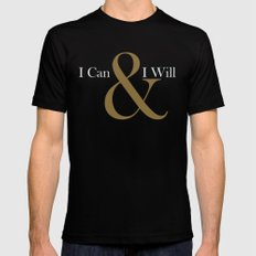 I CAN & I WILL  2X-LARGE Black Mens Fitted Tee
