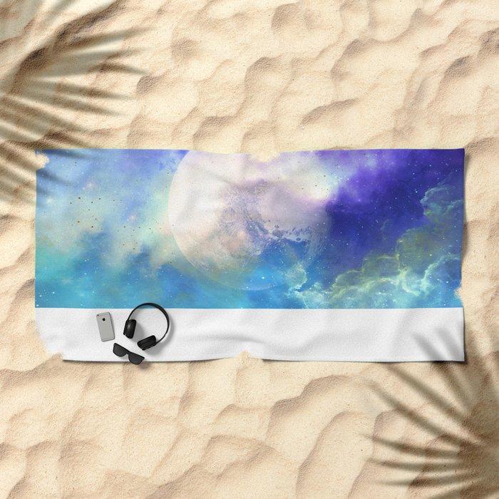 Silver Moon Beach Towel