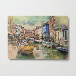 Colors of Burano Metal Print