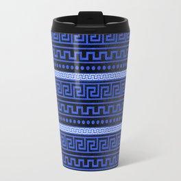 Traditional Greek Meander Pattern Travel Mug