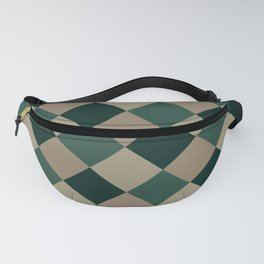 Brown green plaid Fanny Pack