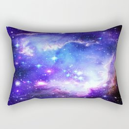Galaxy Nebula Blue Rectangular Pillow