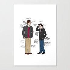 Dean vs. Jess Canvas Print