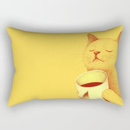 Coffe cat Rectangular Pillow