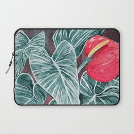 Pop Anthurium Leafs and Flowers Laptop Sleeve