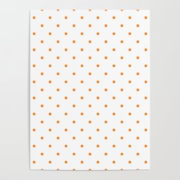 Small Orange Polka Dots Poster