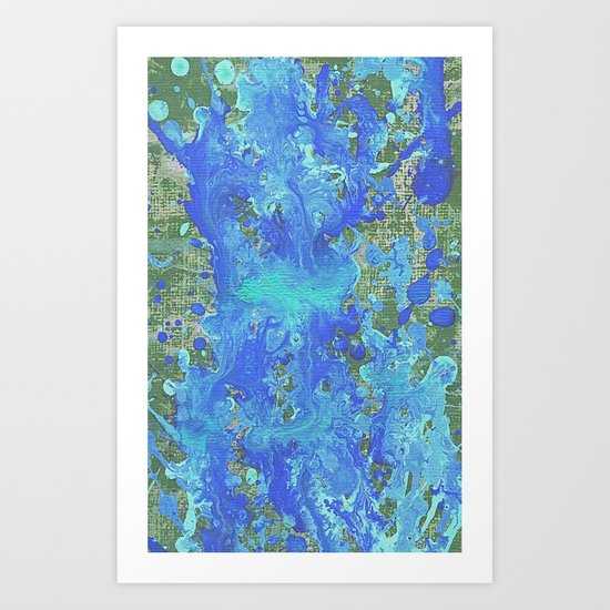 Water Flow On The Earth Art Print