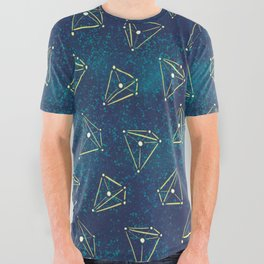 Tetrahedral Molecular Geometry Constellation Art All Over Graphic Tee