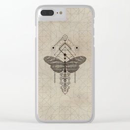 Sacred  Geometry  Zebra Longwing Butterfly Clear iPhone Case