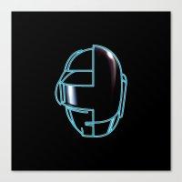 daft punk Canvas Prints featuring Daft Punk by Jason Michael