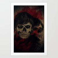 kris tate Art Prints featuring Tate by Miriam Soriano
