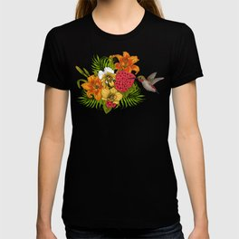 Hummingbirds and tropical bouquet T-shirt