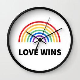 LOVE WINS LGBTQ pride Wall Clock