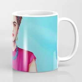 Frida wearing band of flowers Coffee Mug