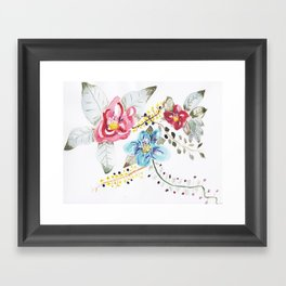 I'm Sorry - Hand Painted Watercolor Framed Art Print